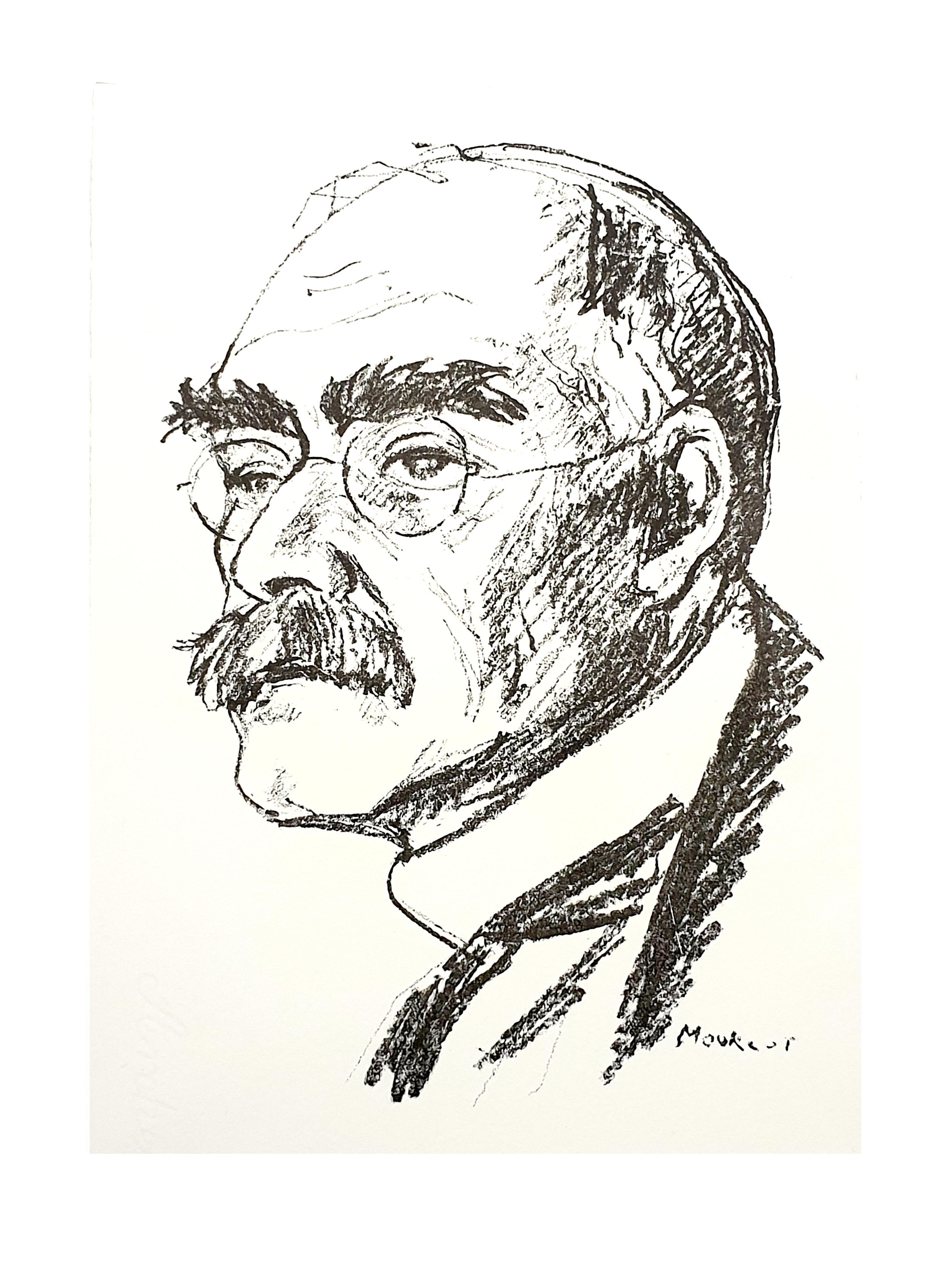Maurice Mourlot - Portrait - Original Lithograph