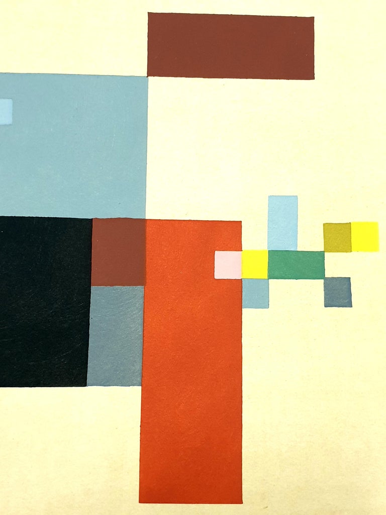 Sophie Taeuber-Arp (after) -  Composition - Pochoir - Abstract Geometric Print by Sophie Taeuber-Arp