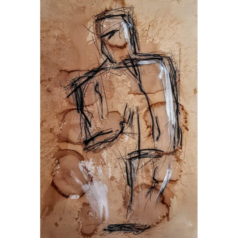 Kyte Tatt - Original Painting - Brown Abstract Painting by Kyte Tatt