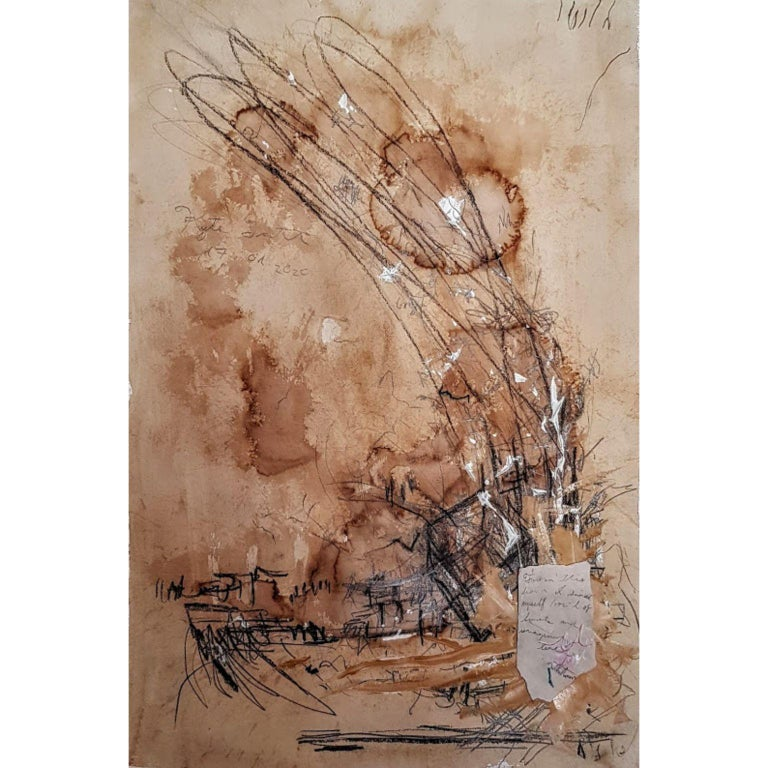 Kyte Tatt - Original Painting - Brown Abstract Painting by Kyte Tatt
