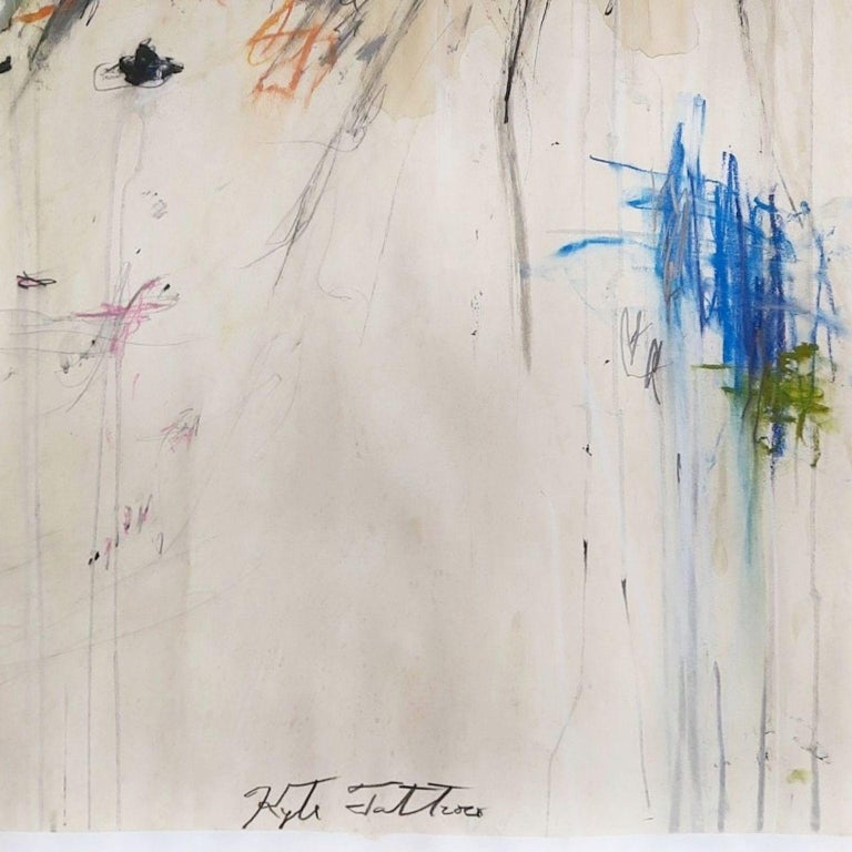 Kyte Tatt - Original Painting Signed Dimensions : 59.4 × 84.1 cm Medium : Acrylic, Graphite, Coffee, on Paper   Kyte Tatt is an American-born mixed media artist based in Berlin Germany. Kyte has been honing his skills as an artist for many years.