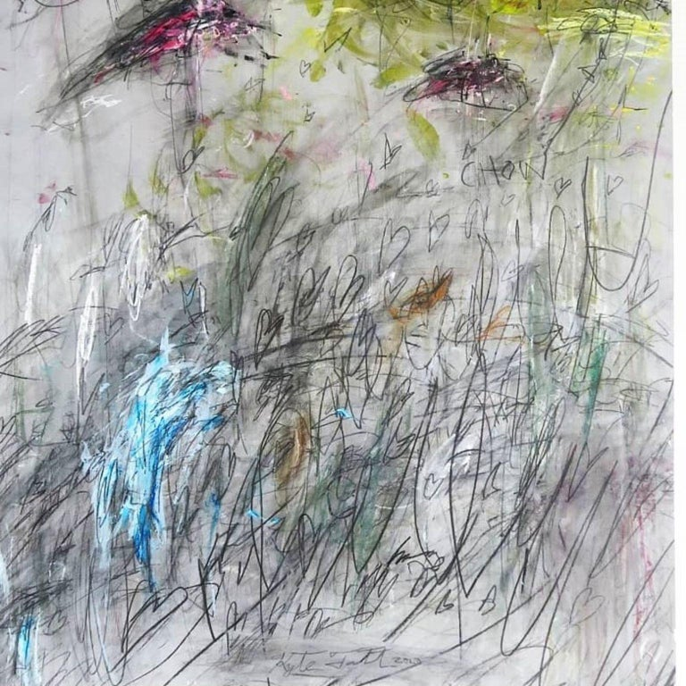 Kyte Tatt - Original Painting Signed Dimensions : 59.4 × 84.1 cm Medium : Acrylic, Graphite, Coffee, Soft Pastel, on Paper   Kyte Tatt is an American-born mixed media artist based in Berlin Germany. Kyte has been honing his skills as an artist for