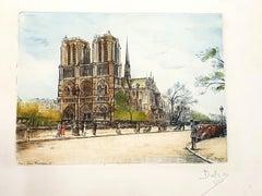 Dufza - Paris Notre Dame - Original Handsigned Etching