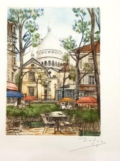 Dufza - Paris - Montmartre - Original Handsigned Etching