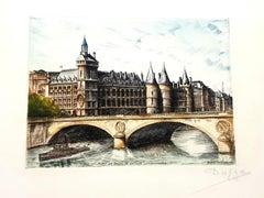 Dufza - Paris - Conciergerie - Original Handsigned Etching