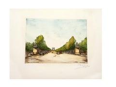 Dufza - Paris - Champs Elysées - Original Handsigned Etching