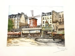 Dufza - Paris - Moulin Rouge - Original Handsigned Etching
