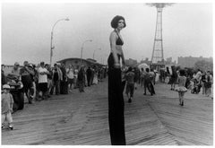 Stilt Walker in Mermaid Parade, Cosney Island, Beach, New York