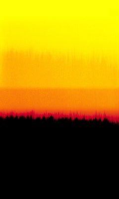 Horizons D, abstract, color, red, orange , yellow, black