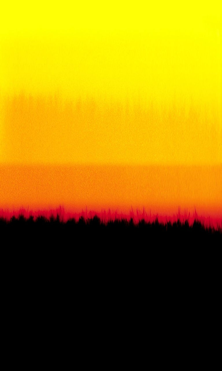 Silvio Wolf Abstract Photograph - Horizons D, abstract, color, red, orange , yellow, black