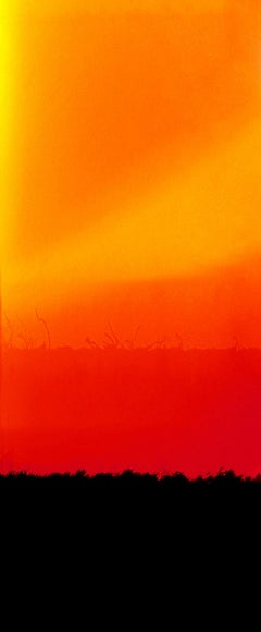 Horizon E,  abstract photography, orange and black