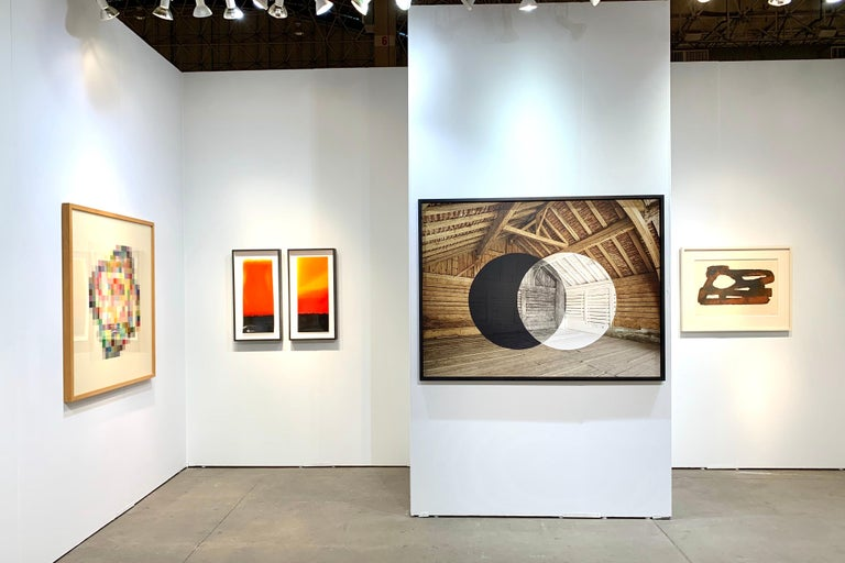 From the late 1980s to the present he has introduced a wider range of media, using moving image, still projections, light and sound, individually or in combinations.  He has shifted from the pure two-dimensional format of photography to approach