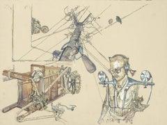 Morsecode, Illustration, Drawing, Invented Machine, DaVinci style