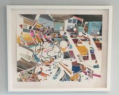 New Nostalgias, Landscape,Cityscape, Watercolor, Work on Paper, Interior Scene