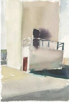 VFD #4, watercolor, California, industrial, architecture, building, training