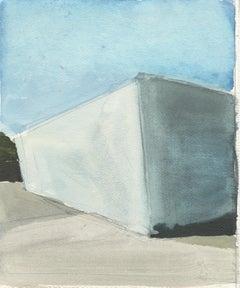 City Limits No. 5 watercolor, California, architecture, building, Industrial
