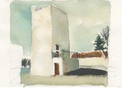 VFD 2, watercolor, California, Industrial building, architecture, fire training