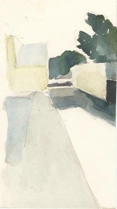 Garford No. 1, watercolor, California, Industrial building, architecture