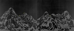 This Seemingly Limitless Breadth of Time, black and white mountain-scape