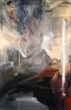 Storm & Flare, abstracted rockscape on canvas