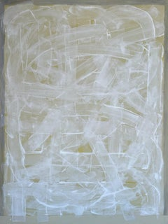 GreWw, abstract minimalist painting on canvas, grey, white and neutral