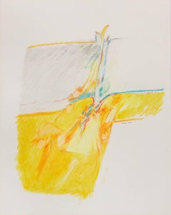 Untitled II (yellow), pastel on paper, 20 x 16. Yellow composition