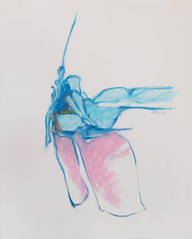 James Moore Abstract Drawing - Untitled II (blue pink)