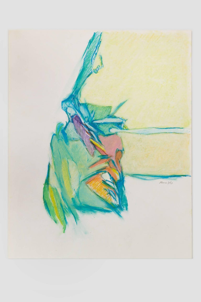 Untitled II (multi), 1979, pastel on paper, 20 x 16 inches. Soft abstraction - Art by James Moore