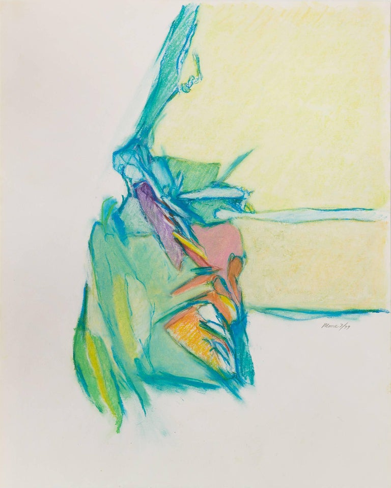 James Moore Abstract Drawing - Untitled II (multi), 1979, pastel on paper, 20 x 16 inches. Soft abstraction
