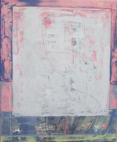 Rock 193: Alice, through the Looking Glass, pink pastel abstract oil painting