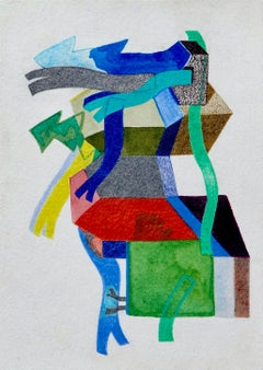 Untitled, Small Works No. 47, geometric abstraction, work on paper