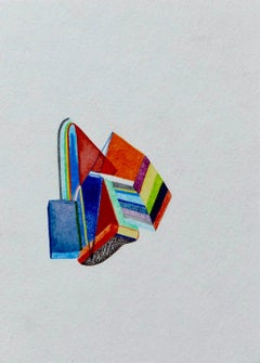 Untitled, Small Works No. 22, geometric abstraction, work on paper