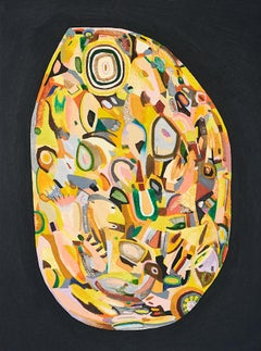 Untitled, Small Vessels No. 5, multicolored abstract work on paper