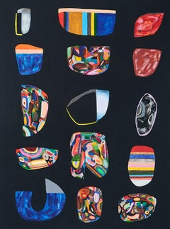 Untitled, Small Vessels No. 6, multicolored abstract work on paper