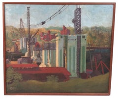 The Construction of the Key Bridge,  Washington DC