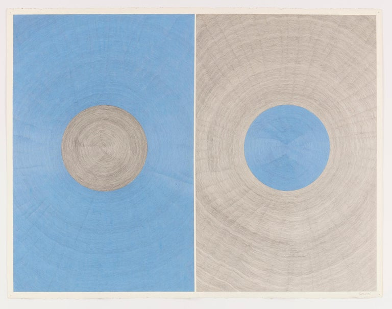 Matthew Pendleton Abstract Drawing - Untitled (Blue/Gray)