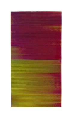 Matti Havens, Striations, 2019, Screenprint, 39 x 22, frame size 48 x 30 inches