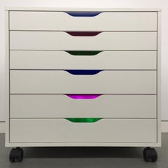 Deanna Lee, Color Forms Cabinet, 2018, site specific installation in readymade