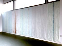 Deanna Lee, Surface Transcriptions-Long Wall, 2019, site responsive drawing