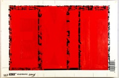 "Bob Seng, Exit 397, 2002, scraped, collaged, EXIT signs, 8"" x 12"""