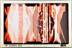 "Bob Seng, Exit 323, 2000, scraped, collaged, EXIT signs, 8"" x 12"""