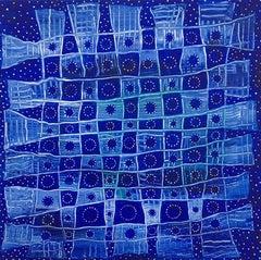 Andra Samelson, Ephemeris, 2018, Acrylic on canvas,  12 x 12 inches