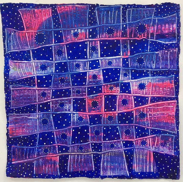 Andra Samelson, Stars of Tallapooza,  Acrylic on paper, 12 x 12 inches, 2018 For Sale 1
