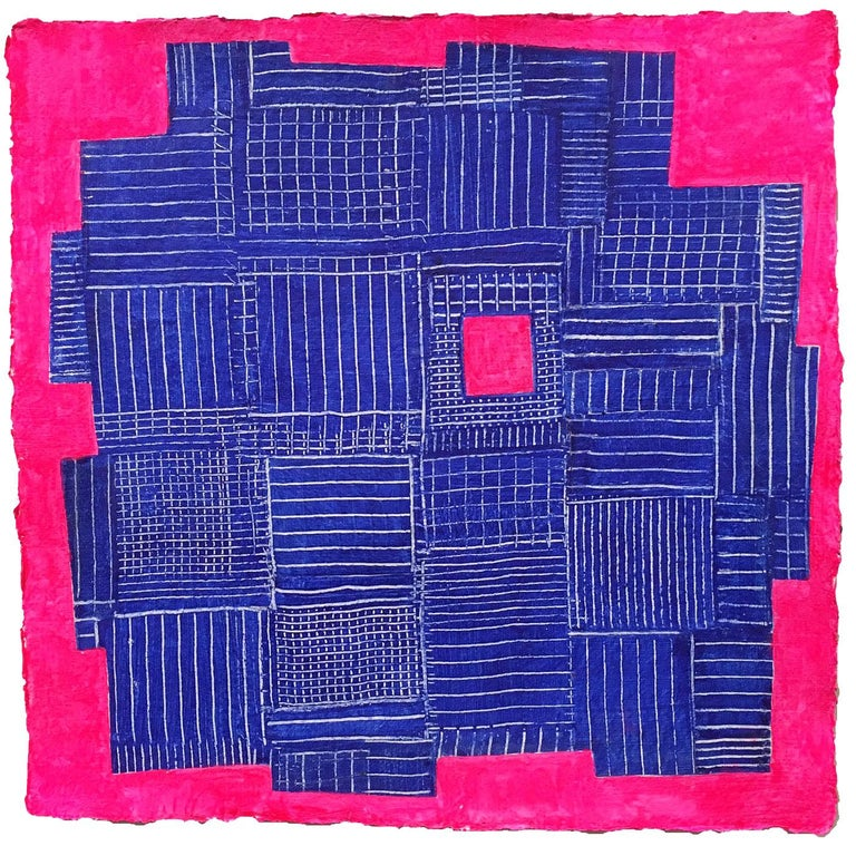 Andra Samelson, Stars of Tallapooza,  Acrylic on paper, 12 x 12 inches, 2018 For Sale 3