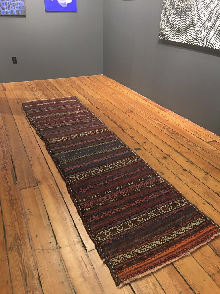 ODETTA at Home, Textiles, Vintage Afghan Maldari Runner, early 20th c, wool - Art by ODETTA