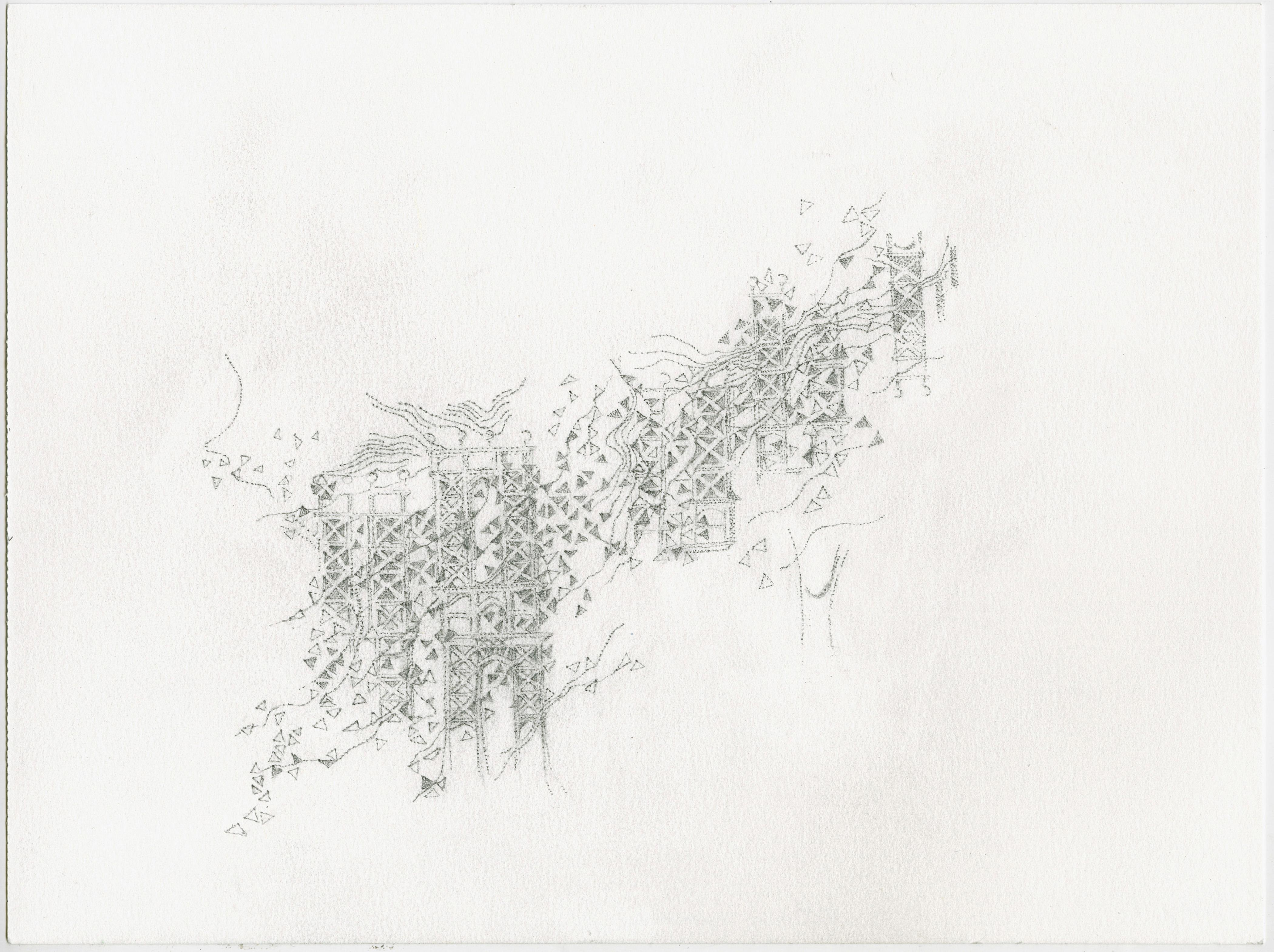 Katherine Jackson, Suspension of Disbelief, 2015, Graphite, Paper, Framed