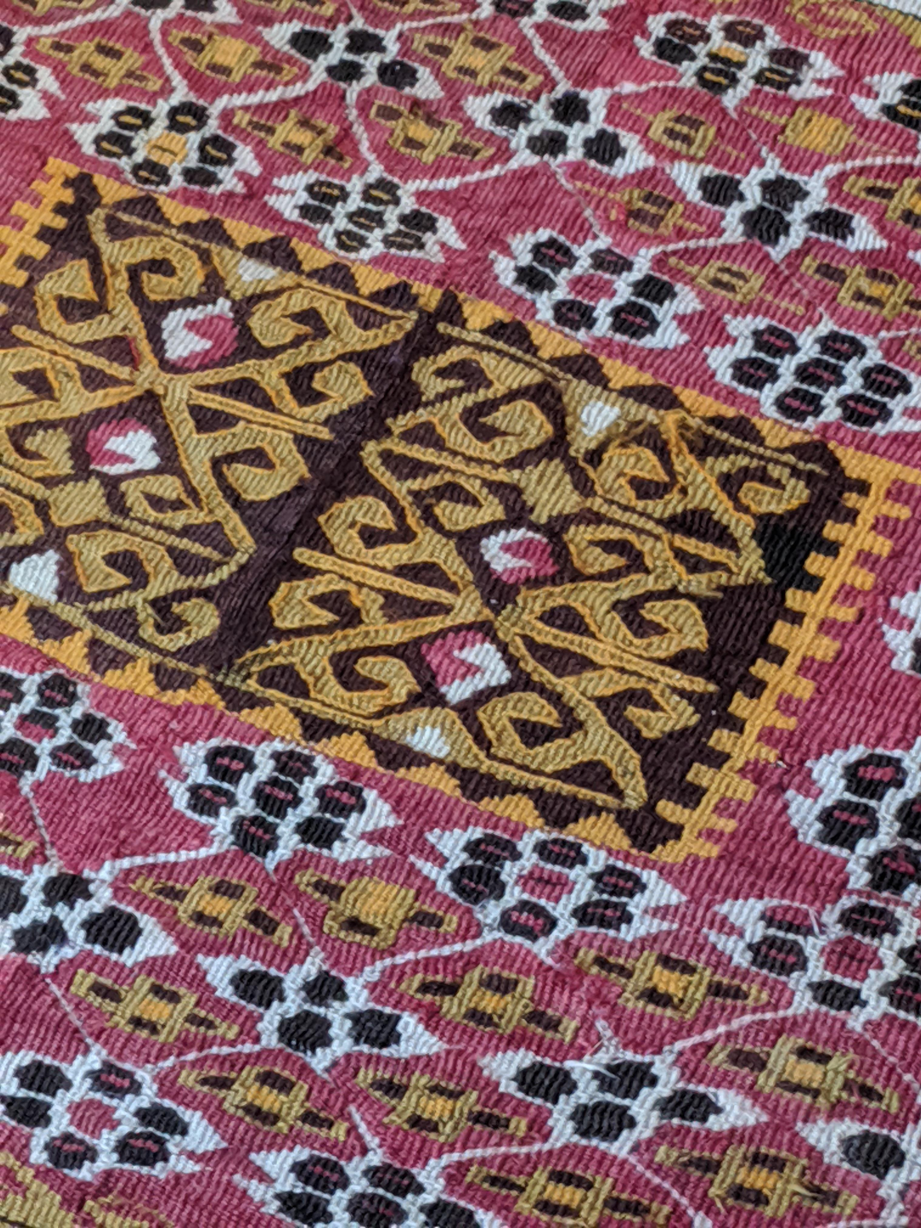 ODETTA at Home, Textiles, Vintage Anatolian Kayseri Kilim, early 20th c, wool