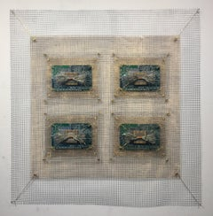 Anne Marie Kenny, Integrated Circuits I 4 Square Industrial Quilt, 2019