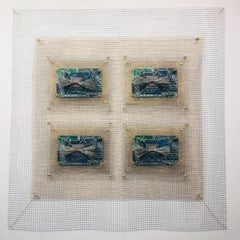 Anne Marie Kenny, Integrated Circuits III 4 Square Industrial Quilt, 2019