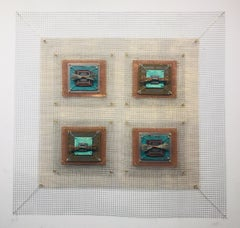 Anne Marie Kenny, Alternating Circuits 4 Square Industrial Quilt, 2019